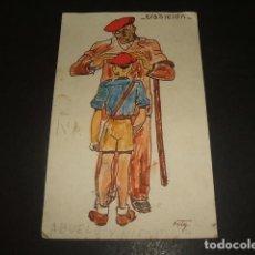 Postales: POSTAL GUERRA CIVIL REQUETE CARLISMO TRADICION CENSURA ZARAGOZA 1938. Lote 139318986