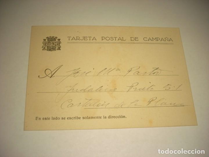 TARJETA POSTAL DE CAMPAÑA .CEDRILLA 8-9 1937. (Postkarten - Thematische Postkarten - Spanischer Bürgerkrieg)