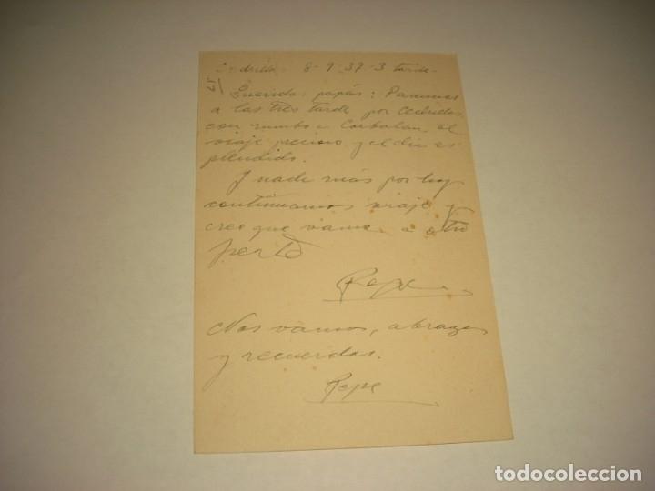 Postkarten: TARJETA POSTAL DE CAMPAÑA .CEDRILLA 8-9 1937. - Foto 2 - 139567190