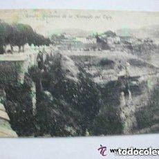 Postales: GUERRA CIVIL: POSTAL DE RONDA (BALCONES DE LA ALAMEDA) , CIRCULADA 1939. CENSURA MILITAR, SELLOS CID. Lote 142233954