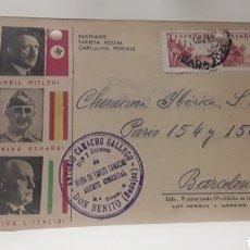 Postales: TARJETA POSTAL CENSURA MILITAR AÑO 1939 AÑO DE LA VICTORIA. Lote 131756402