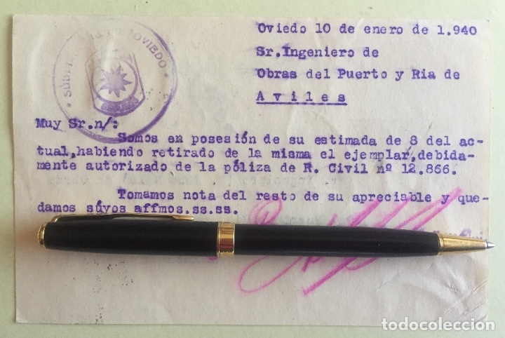 TARJETA POSTAL- POST GUERRA CIVIL- OVIEDO A AVILES- 1.940 (Postales - Postales Temáticas - Guerra Civil Española)