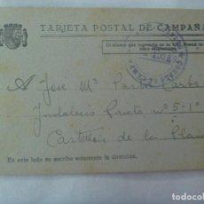 Postales: GUERRA CIVIL : POSTAL CAMPAÑA CIRCULADA DESDE PATAGALLINA A CASTELLON , 1937. Lote 144828414