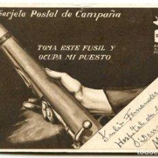 Postales: POSTAL DE CAMPAÑA PSOE AGRUPACIÓN SOCIALISTA MADRILEÑA, DE J. HUERTAS, DESDE MEJORADA DEL CAMPO. Lote 146101022
