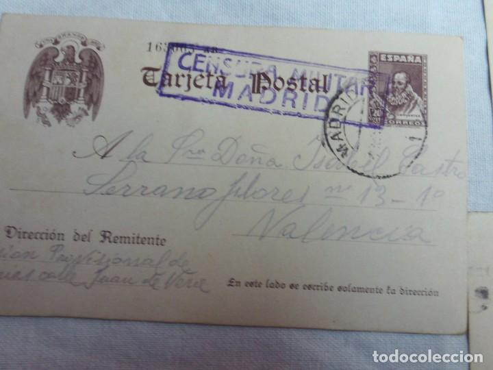 4 TARJETAS TARJETA POSTAL CUÑOS DE CENSURA MILITAR REPUBLICANO PRISION PROVISIONAL YESERIAS MADRID (Postales - Postales Temáticas - Guerra Civil Española)