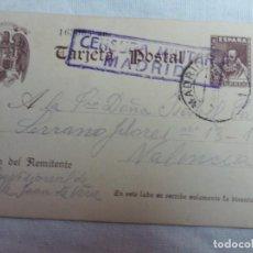 Postales: 4 TARJETAS TARJETA POSTAL CUÑOS DE CENSURA MILITAR REPUBLICANO PRISION PROVISIONAL YESERIAS MADRID. Lote 146194706