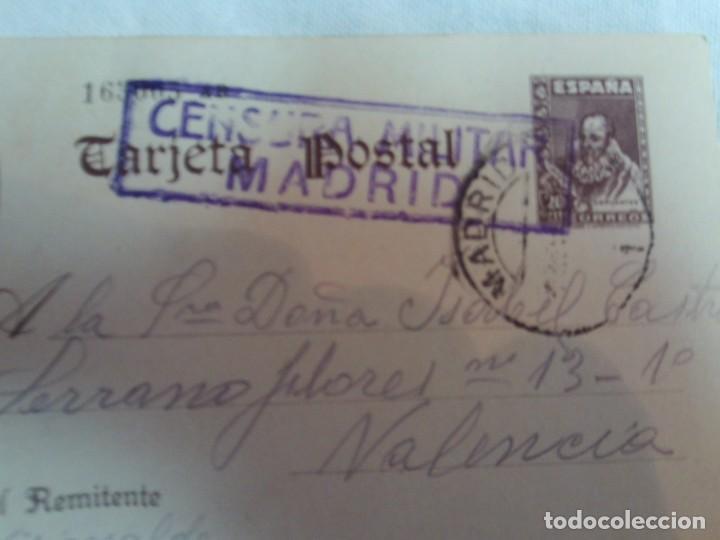 Postales: 4 tarjetas tarjeta postal cuños de censura militar republicano prision provisional yeserias madrid - Foto 3 - 146194706