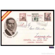 Postcards - ESPAÑA 1937. CALVO SOTELO. TARJETA POSTAL PATRIÓTICA GUERRA CIVIL. MÁLAGA LIBERADA. CIRCULADA - 146688654