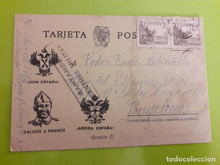 POSTAL GUERRA CIVIL FRANQUISTA CENSURA MILITAR SANTANDER (Postales - Postales Temáticas - Guerra Civil Española)
