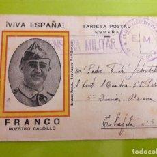 Postales: POSTAL GUERRA CIVIL FRANQUISTA CENSURA MILITAR EJERCITO DE NAVARRA. Lote 146949574