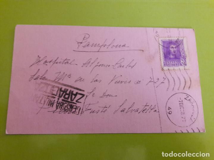 POSTAL GUERRA CIVIL FRANQUISTA CENSURA MILITAR ZARAGOZA (Postales - Postales Temáticas - Guerra Civil Española)
