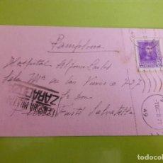 Postales: POSTAL GUERRA CIVIL FRANQUISTA CENSURA MILITAR ZARAGOZA. Lote 146950178