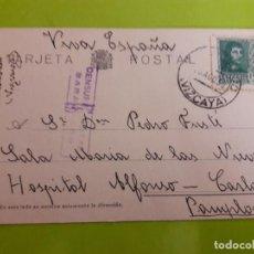 Postales: POSTAL GUERRA CIVIL FRANQUISTA CENSURA MILITAR BARACALDO. Lote 146950562