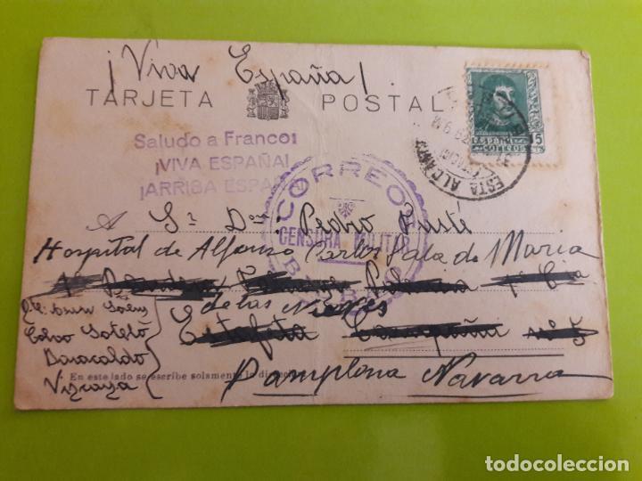 POSTAL GUERRA CIVIL FRANQUISTA CENSURA MILITAR BILBAO (Postales - Postales Temáticas - Guerra Civil Española)
