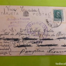 Postales: POSTAL GUERRA CIVIL FRANQUISTA CENSURA MILITAR BILBAO. Lote 146950890