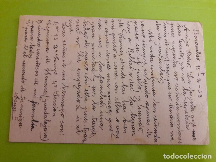Postales: POSTAL GUERRA CIVIL FRANQUISTA CENSURA MILITAR BARACALDO - Foto 2 - 146951698