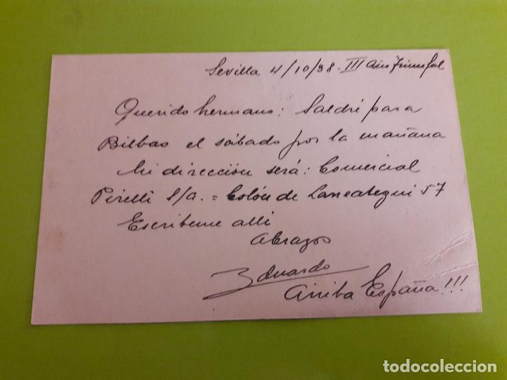 Postales: POSTAL GUERRA CIVIL FRANQUISTA CENSURA MILITAR SEVILLA - Foto 2 - 146952518