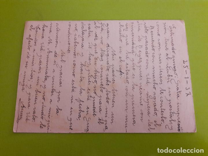 Postales: POSTAL GUERRA CIVIL FRANQUISTA CENSURA MILITAR BARACALDO - Foto 2 - 146952774