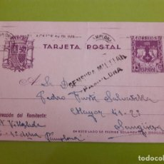 Postales: POSTAL GUERRA CIVIL FRANQUISTA CENSURA MILITAR PAMPLONA. Lote 146954406