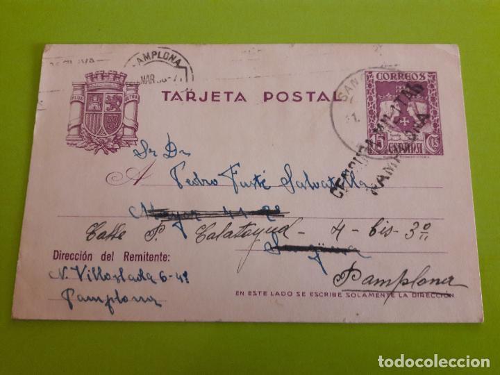 POSTAL GUERRA CIVIL FRANQUISTA CENSURA MILITAR PAMPLONA (Postales - Postales Temáticas - Guerra Civil Española)