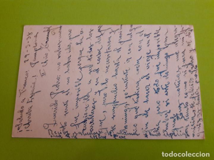 Postales: POSTAL GUERRA CIVIL FRANQUISTA CENSURA MILITAR PAMPLONA - Foto 2 - 146954734