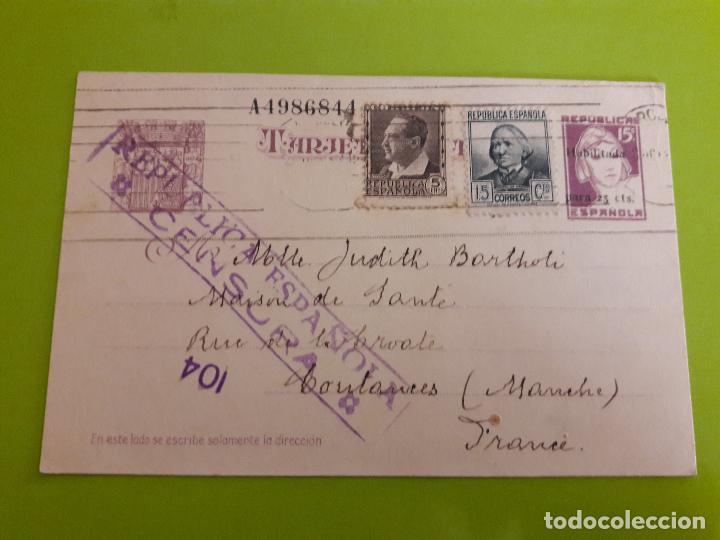 POSTAL GUERRA CIVIL CENSURA MILITAR REPUBLICA ESPAÑOLA (Postales - Postales Temáticas - Guerra Civil Española)