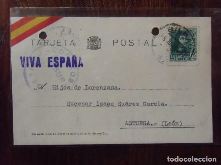 GUERRA CIVIL.TARJETA POSTAL CIRCULADA BILBAO/ASTORGA 7/6/1938.CENSURA MILITAR. (Postkarten - Thematische Postkarten - Spanischer Bürgerkrieg)