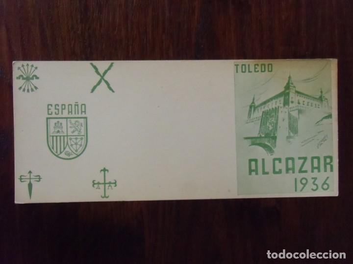 GUERRA CIVIL.TARJETA POSTAL SIN CIRCULAR/TOLEDO-ALCAZAR 1936/ ED.VALLADOLID. (Postkarten - Thematische Postkarten - Spanischer Bürgerkrieg)