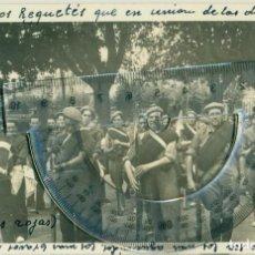 Postales: LOGROÑO GUERRA CIVIL 1936. SOLDADOS REQUETÉS CARLISTAS. FOTO Y TEXTO DEL DOCTOR LOYOLA. PIEZA ÚNICA.. Lote 147602198