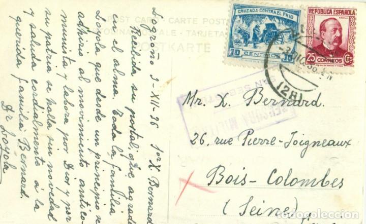 Postales: LOGROÑO GUERRA CIVIL 1936. SOLDADOS REQUETÉS CARLISTAS. FOTO Y TEXTO DEL DOCTOR LOYOLA. PIEZA ÚNICA. - Foto 2 - 147602198