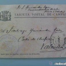 Postales: GUERRA CIVIL : TARJETA DE CAMPAÑA DE LA REPUBLICA, CIRCULADA DESDE MORA ( TOLEDO ) A VALENCIA, 1939. Lote 147766214