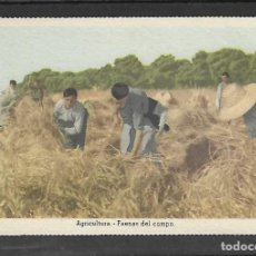 Postales: TARJETA POSTAL. ARTESANIA ESPAÑOLA - AGRICULTURA - . EDITA LA VICESECRETARIA DE EDUCACION POPULAR . Lote 148350746