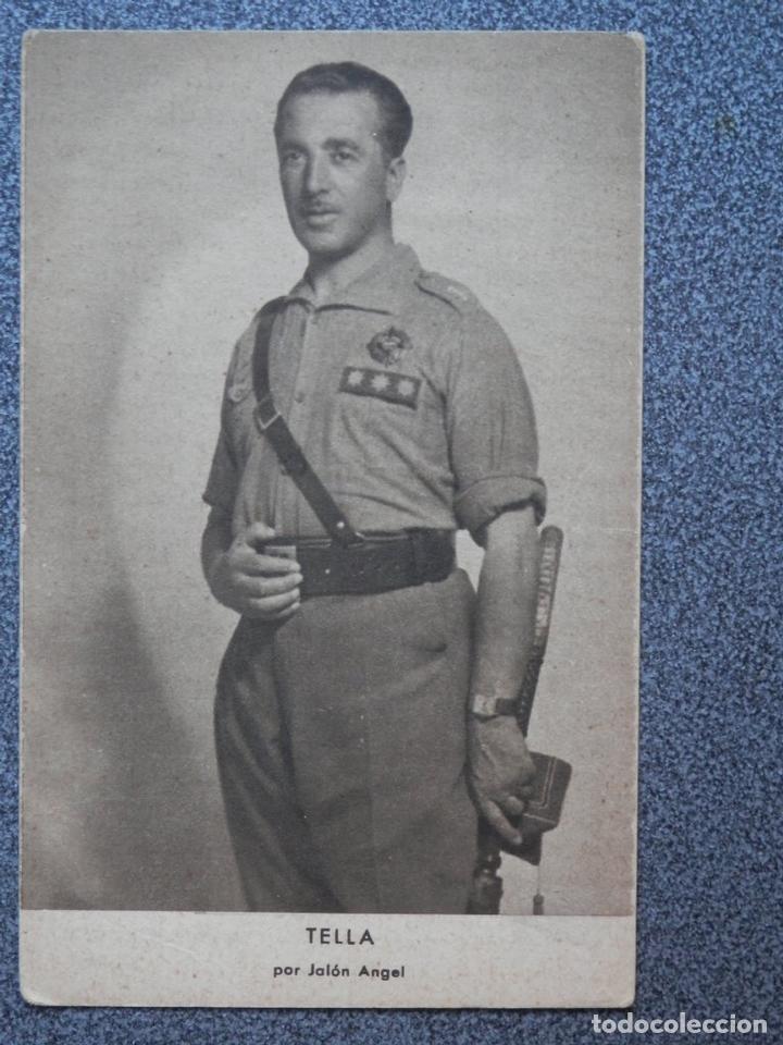 GUERRA CIVIL TELLA POR JALÓN ANGEL POSTAL ANTIGUA (Postales - Postales Temáticas - Guerra Civil Española)
