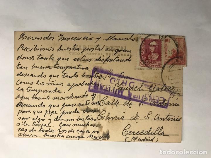 Postales: SAN SEBASTIÁN. Postal No.11, Puente de María Christina (h.1940?) CENSURA MILITAR - Foto 2 - 149266436
