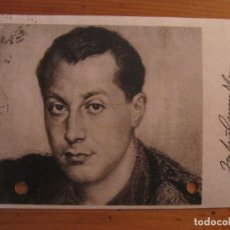 Postales: TARJETA POSTAL JOSE ANTONIO PRIMO DE RIVERA 1940 PRENSA Y PROPAGANDA FALANGE ESPAÑOLA. Lote 149554298