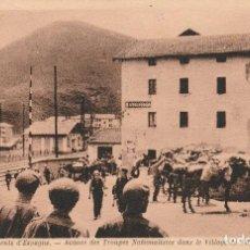Postales: POSTAL ORIGINAL GUERRA CIVIL ARRIGORRIAGA AVANCE DE LAS TROPAS NACIONALISTA. Lote 151403198