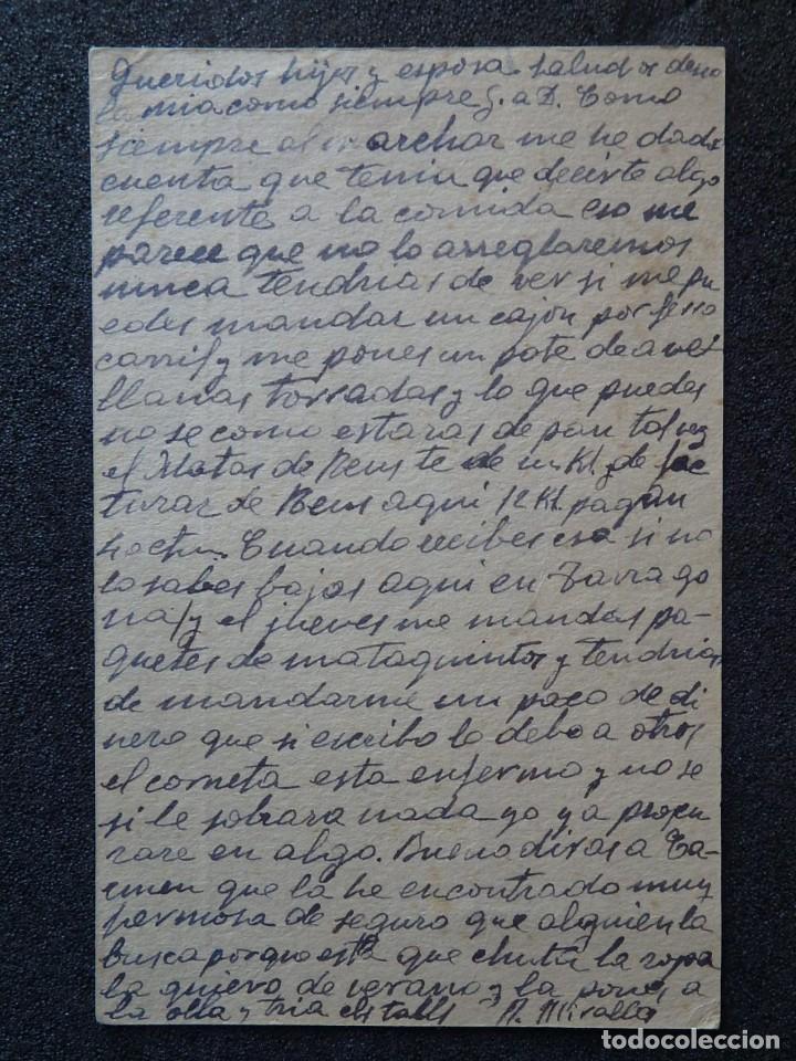 Postales: (JX-190259)Tarjeta postal patriótica enviada desde la cárcel Pilatos,sala 4 º Tarragona a Riudecols - Foto 3 - 152336690