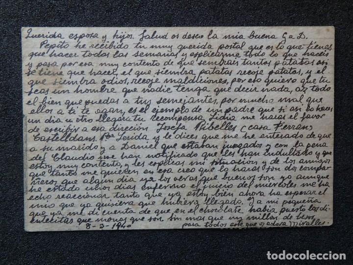 Postales: (JX-190261)Tarjeta postal patriótica enviada desde la cárcel Pilatos,sala 4 º Tarragona a Riudecols - Foto 4 - 152337526