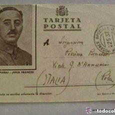 Postales: GUERRA POSTAL REPUBLICA Y FRANCO DE ITALIANO CTV, 5ª BATERIA ANTICARROS PENNE NERE. BILBAO 1937?. Lote 153503042