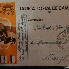 Postales: GUERRA CIVIL, REPÚBLICA ESPAÑOLA, SOCORRO ROJO, TARJETA POSTAL CIRCULADA. Lote 153730922