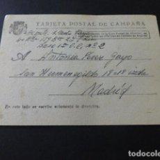 Postales: TARJETA POSTAL DE CAMPAÑA REPUBLICA ESPAÑOLA ESCRITA EN CAMPAÑA 18 DE JULIO DE 1938 4ª BRIGADA. Lote 153785630