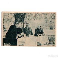 Postales: REVISTA DE LA ESCUADRA EN VINAROZ. EL CAUDILLO CON LOS MINISTROS DE LA GOBERNACIÓN. Lote 153785794