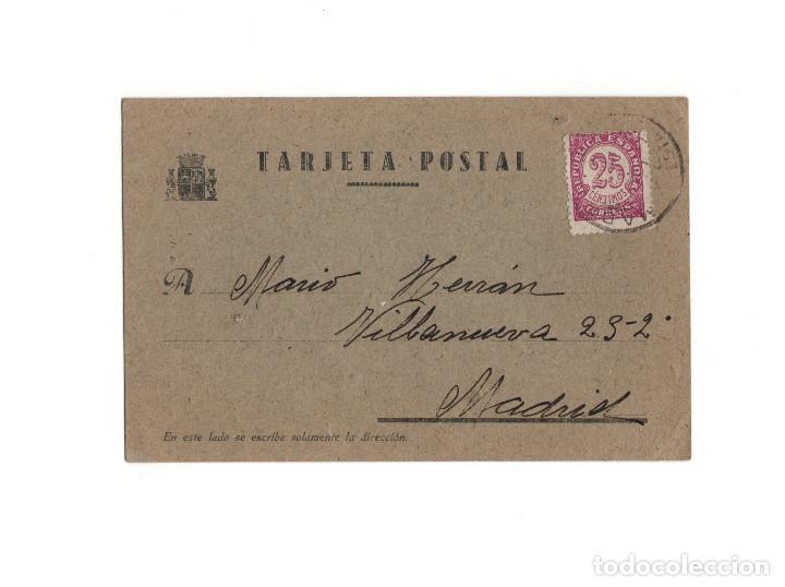 GUERRA CIVIL – TARGETA POSTAL REPÚBLICA. VALENCIA 1939 (Postales - Postales Temáticas - Guerra Civil Española)