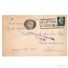 Postales: GUERRA CIVIL – CENSURA MILITAR LEÓN. POSTAL MILANO. Lote 154377962