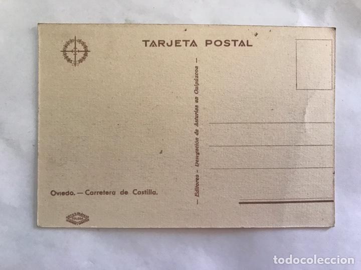 Postales: OVIEDO. Guerra civil. Postal, Carretera de Castilla . Edita: Delegación de Asturias en Guipúzcoa - Foto 2 - 155691350