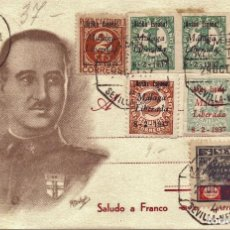 Postales: TARJETA POSTAL PATRIOTICA GENERAL FRANCO NOVIEMBRE 1937 GUERRA CIVIL. Lote 155731294