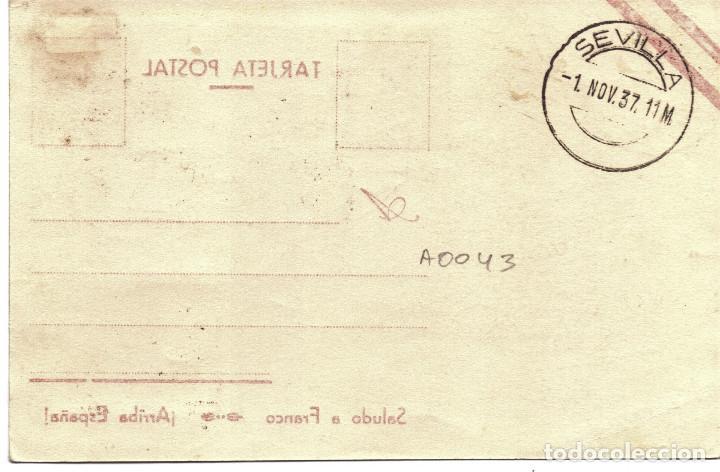 Postales: TARJETA POSTAL PATRIOTICA GENERAL FRANCO NOVIEMBRE 1937 GUERRA CIVIL - Foto 2 - 155731294