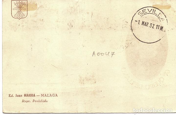 Postales: TARJETA POSTAL PATRIOTICA GENERAL QUEIPO DE LLANO SEVILLA MARZO 1937 GUERRA CIVIL - Foto 2 - 155731714