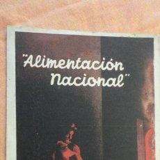 Postales: ANTIGUA POSTAL ALIMENTACION NACIONAL.COMISARIO ABASTECIMIENTOS Y TRANSPORTES.GUERRA CIVIL??. Lote 155976142