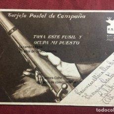 Postcards - TARJETA POSTAL DE CAMPAÑA 1937 PLENA GUERRA CIVIL PSOE AGRUPACION SOCIALISTA MADRILEÑA ELCHE MADRID - 156765626